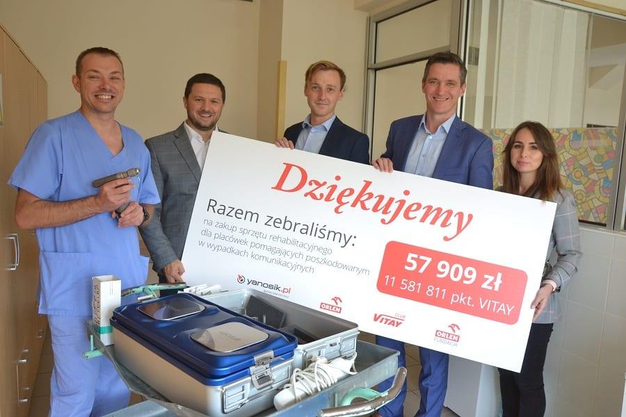 Kolejny szpital dzięki Fundacji ORLEN zaopatrzony w specjalistyczny sprzęt ratujący życie