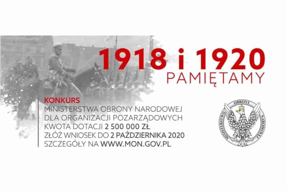 """Konkurs MON """"1918 i 1920 Pamiętamy"""""""